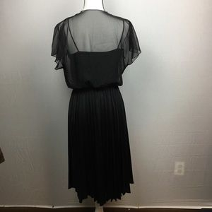 Dresses - Black Dress with Pink Embellishments Size 12